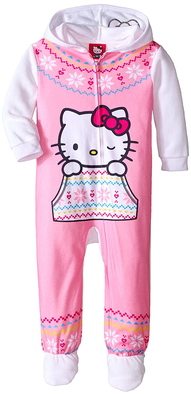 Hello Kitty Little Girls' Hooded Fleece Blanket Sleeper Komar Kids Girls 2-6x K182079HK