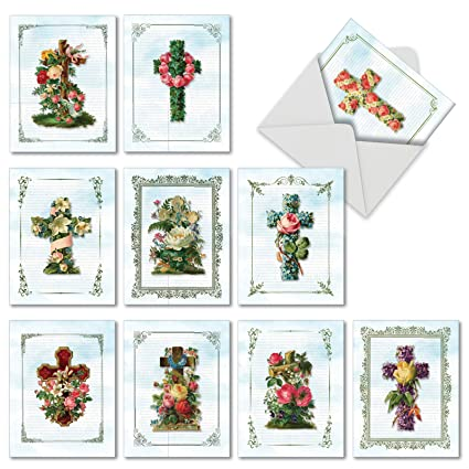 Amazon M6466ocb Cross Cards 10 Assorted Blank Easter Note