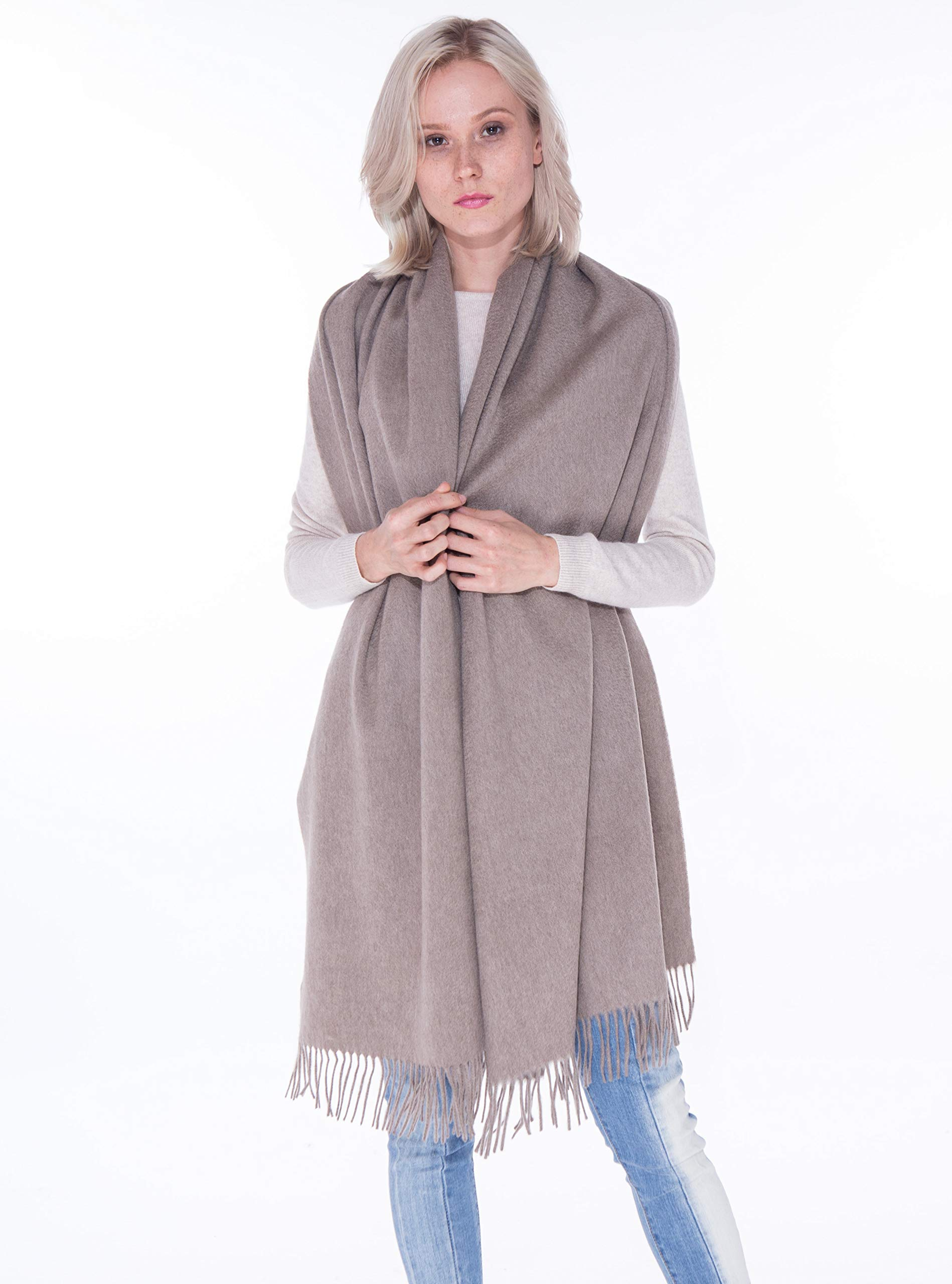 cashmere 4 U Women's 100% Cashmere Wrap for Travel Shawl Stole - Extra Large Scarf for Winter (Lin)