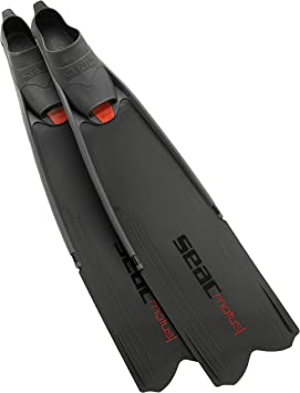 Seac Motus Italian Design Long Blade Fin for Spearfishing and Freediving Fins