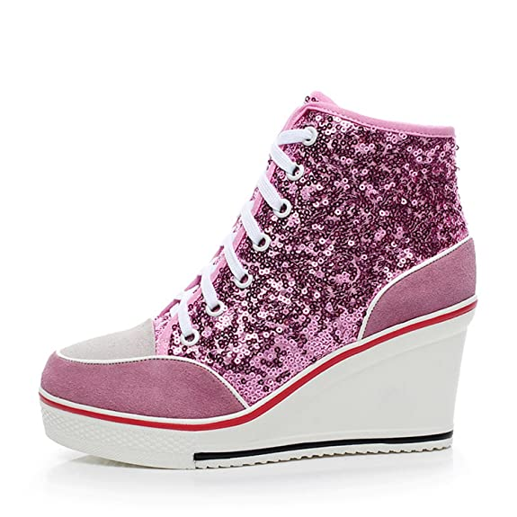 Amazon.com | Robert Westbrook Womens Platform Shoes Genuine Leather Wedge Shoes Women Casual Shoe Ladies Trainers Large Size 35-43 | Fashion Sneakers
