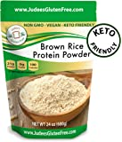 Brown Rice Protein (80% protein) 1.5 lb, Keto, Non GMO, Vegan, Sprouted, Dairy Free, Soy Free, Dedicated Gluten & Nut Free Facility, 21 grams protein/serving