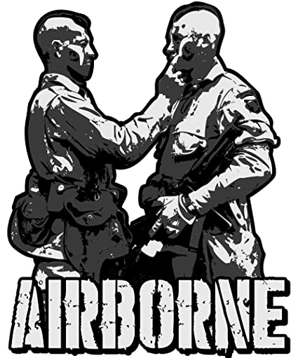 amazon the filthy thirteen 506th parachute infantry regiment WW2 101st Airborne D-Day amazon the filthy thirteen 506th parachute infantry regiment 101st airborne division reflective warpaint mohawk decal sticker 5 x 4 everything
