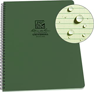 """product image for Rite in the Rain Weatherproof Side-Spiral Notebook, 8 1/2"""" x 11"""", Green Cover, Universal Page Pattern (No. 973-MX)"""