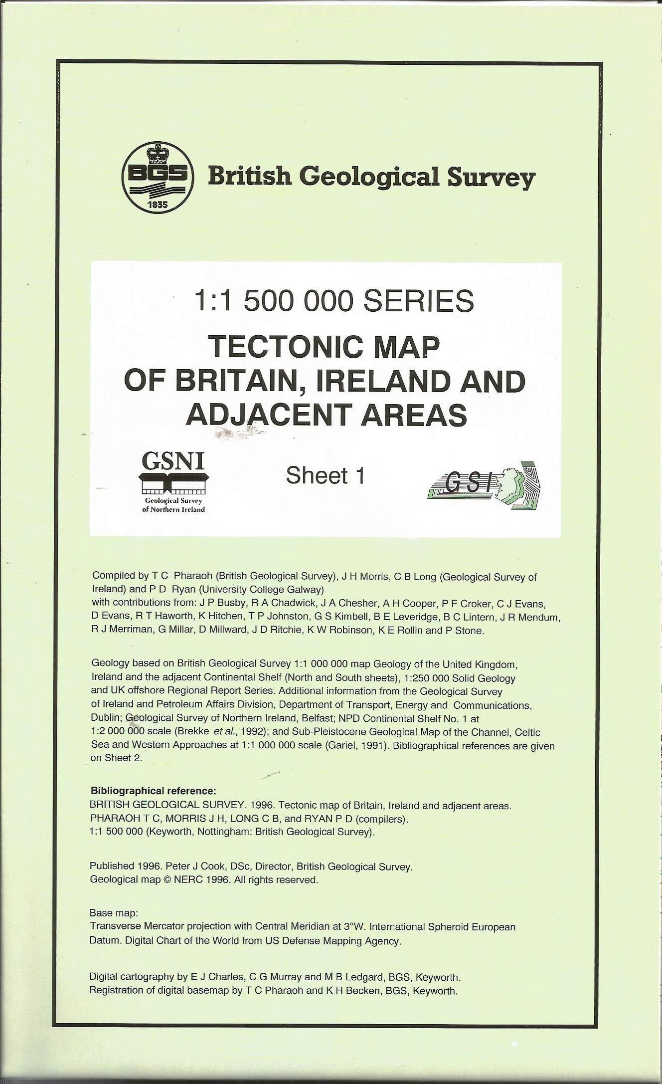 Tectonic Map of Britain, Ireland and Adjacent Areas (Small ... on blank map of britain, political map of britain, physical map of britain,