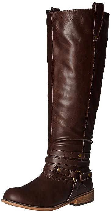 Amazon.com: Brinley Co Women's Bailey-xwc Riding Boot: Shoes