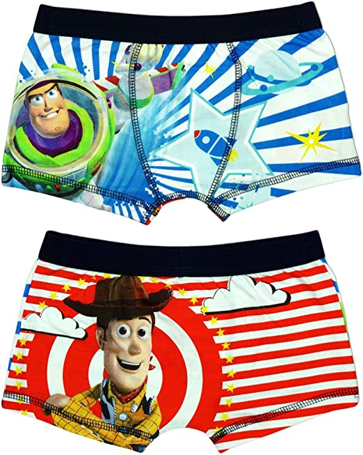 Boys Briefs Trunk Fit Underpants Buzz Lightyear /& Woody Toy Story 3 to 7 Years