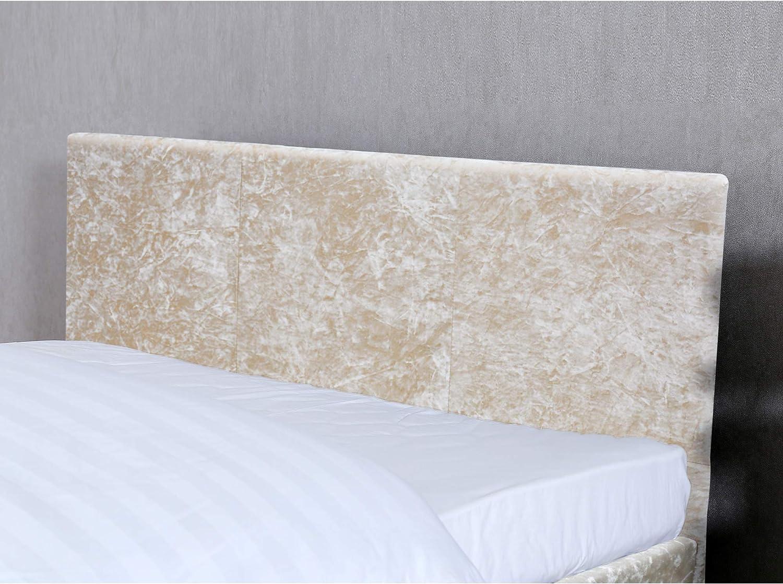 Home Discount Vida Designs Victoria Double Bed 4 ft 6 Bed Frame Upholstered Fabric Headboard Bedroom Furniture Oyster Velvet