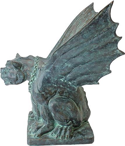 Design Toscano PK2313 Gargoyle of Naples Bronze Garden Statue,Two Tone Bronze Verdigri