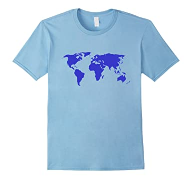 Amazon world map t shirt atlas map of the world tee clothing mens world map t shirt atlas map of the world tee 2xl baby blue gumiabroncs Gallery