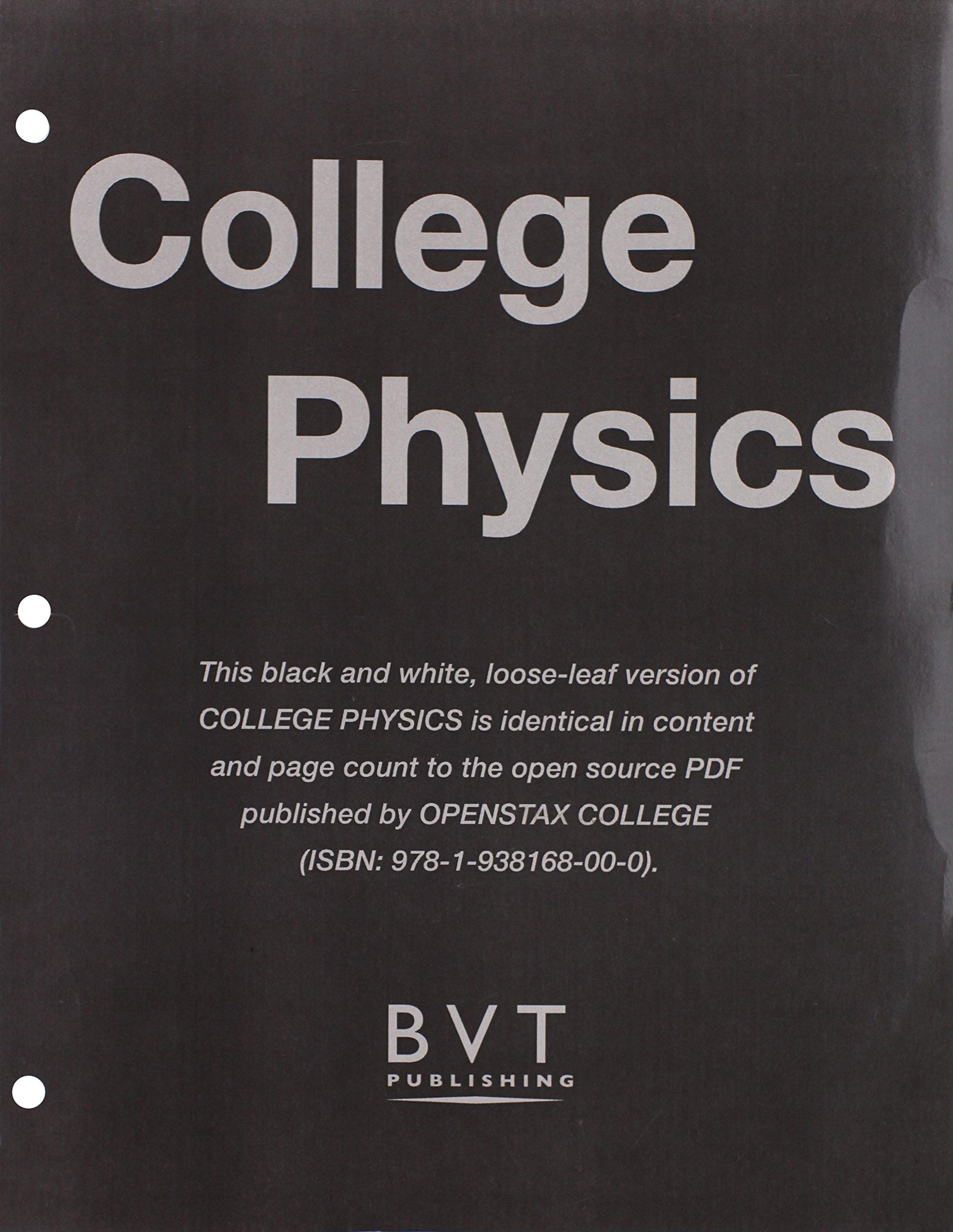 College Physics: OpenStax: 9781627515566: Amazon.com: Books