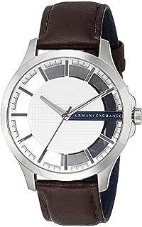 Amazon.com  Armani Exchange Men s Dress Brown Leather Watch AX2334 ... 0cc4f26352
