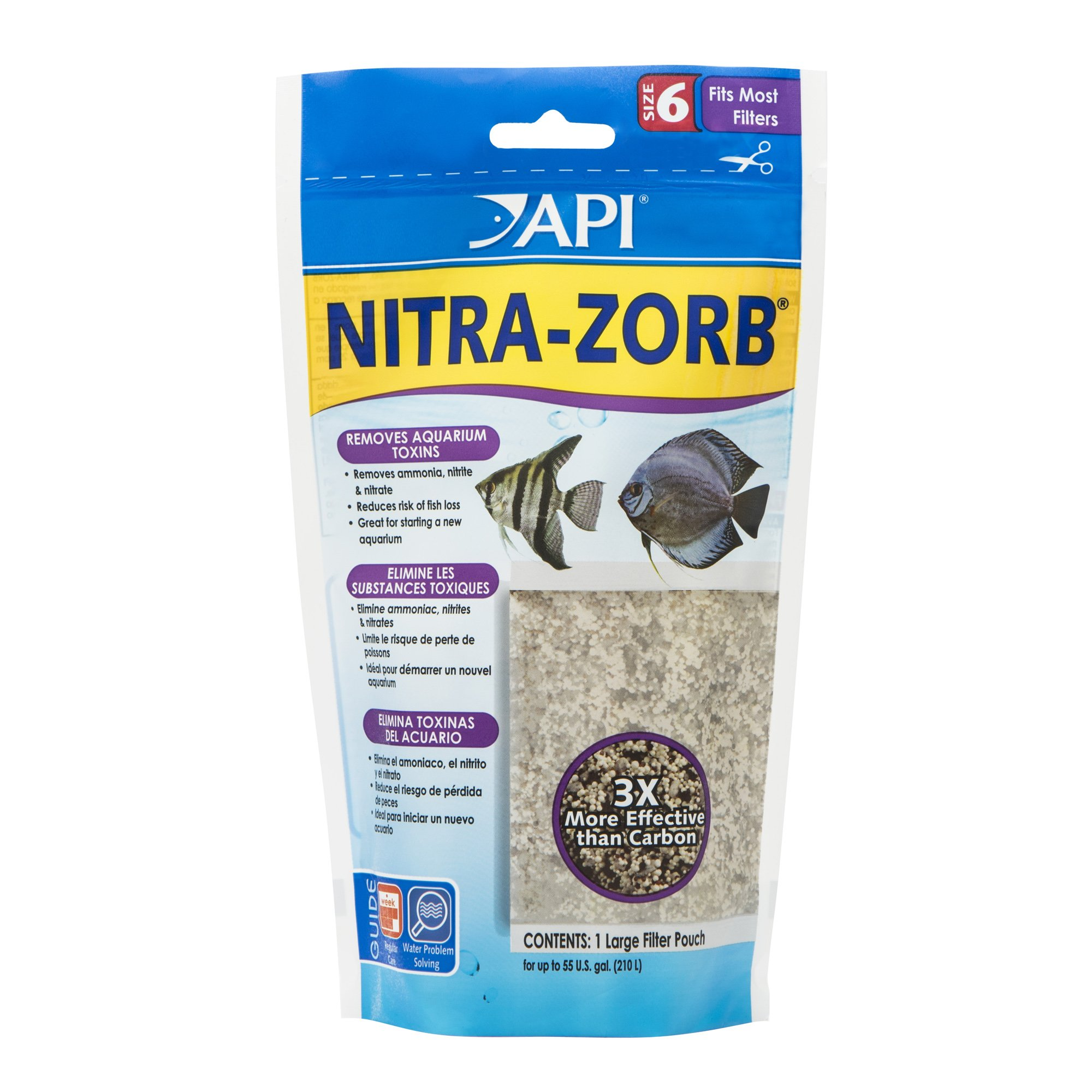 API NITRA-ZORB SIZE 6 Aquarium Canister Filter Filtration Pouch 1-Count Bag by API