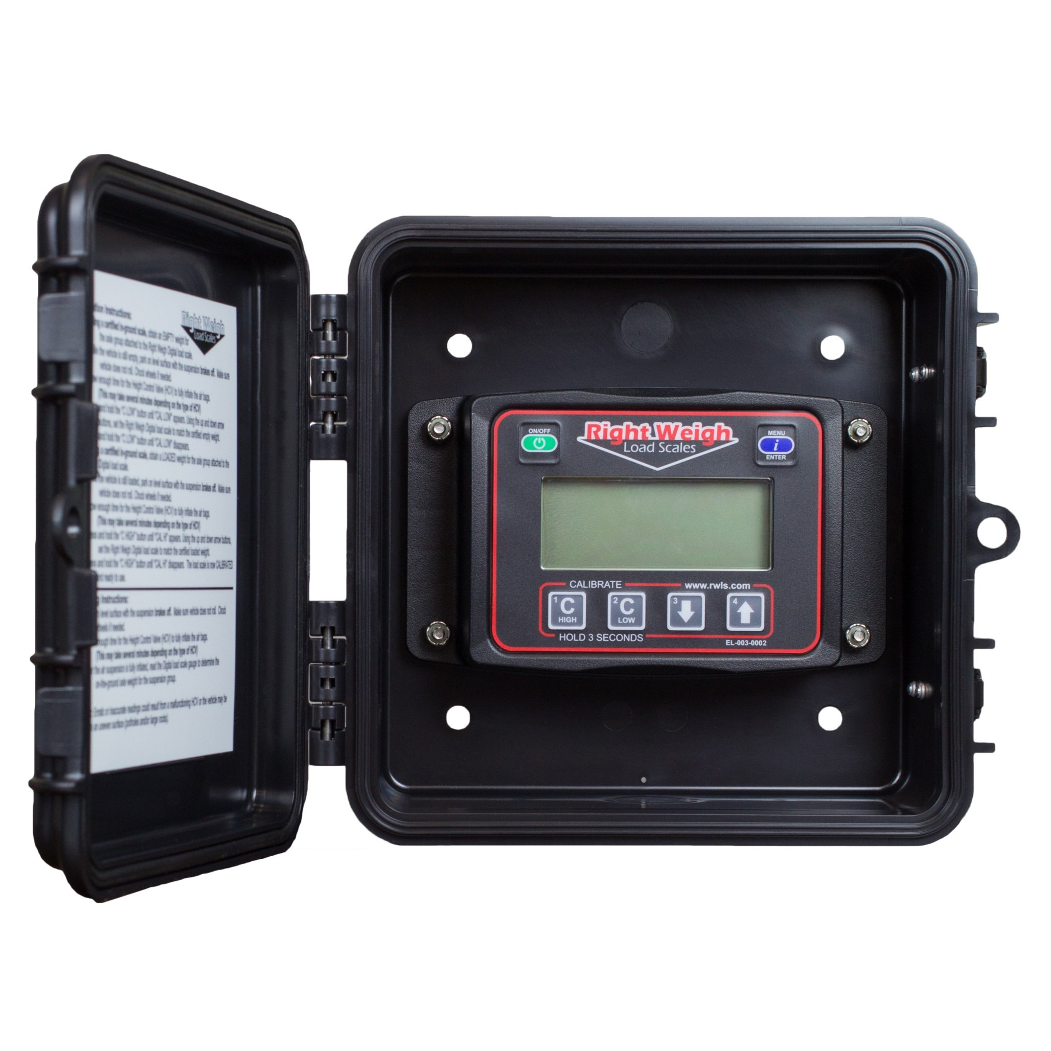Right Weigh 201-EDG-02B Exterior Digital Axle Load Scale - for Two Height Control Valve Air Suspensions or Dedicated Tractor/Trailer Sets