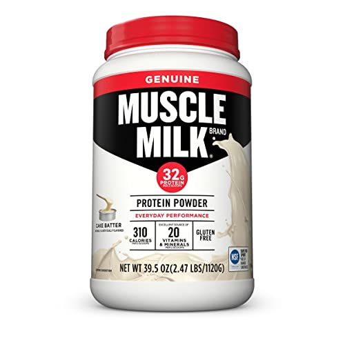 Muscle Milk Genuine Protein Powder Cake Batter 32g 247 Pound
