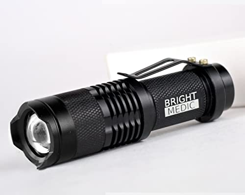 200 Lumen Mini Bonfire, Compact UltraBright Cree LED Flashlight, 1 x AA Battery