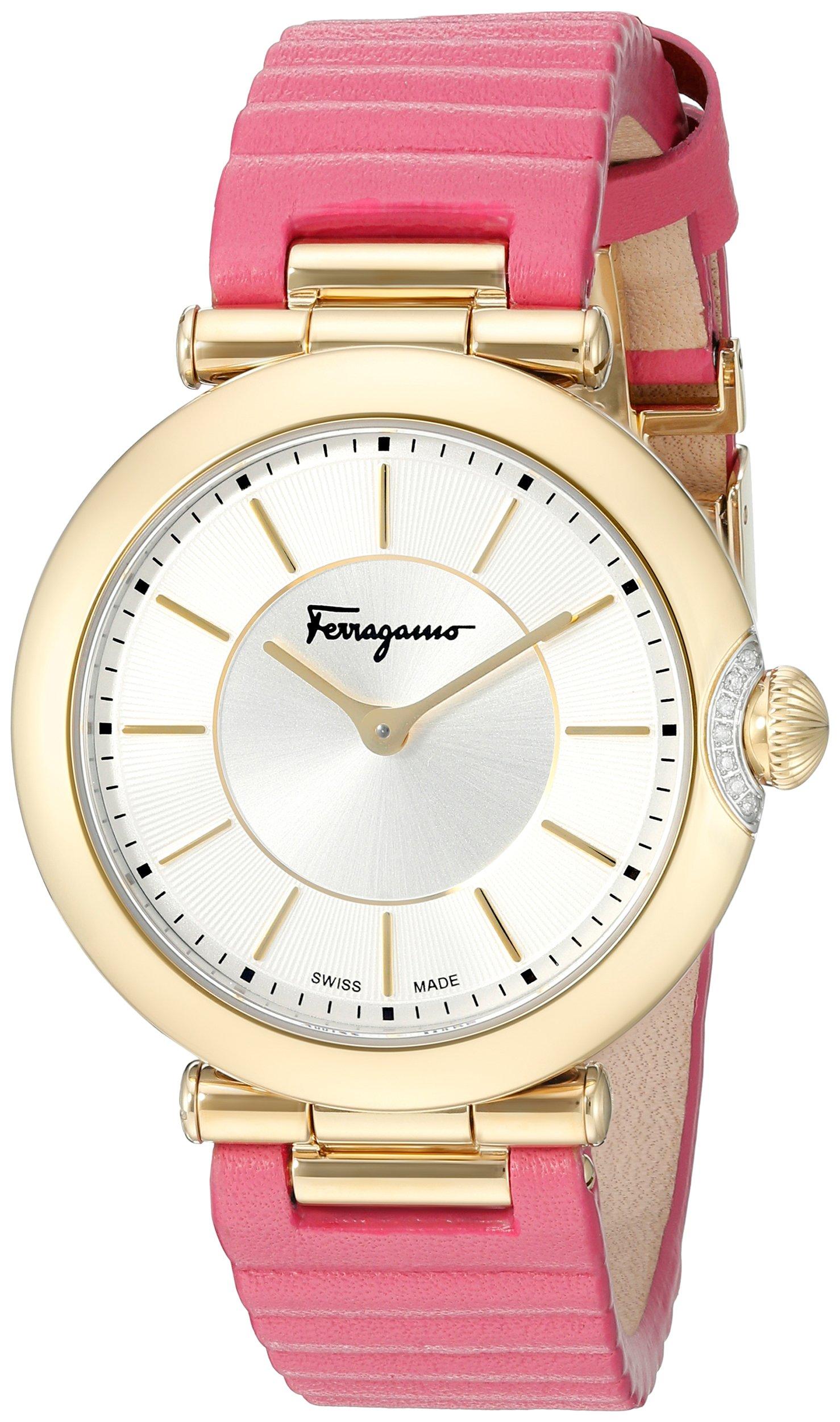 Salvatore Ferragamo Women's FIN030015 Style Analog Display Quartz Pink Watch by Salvatore Ferragamo