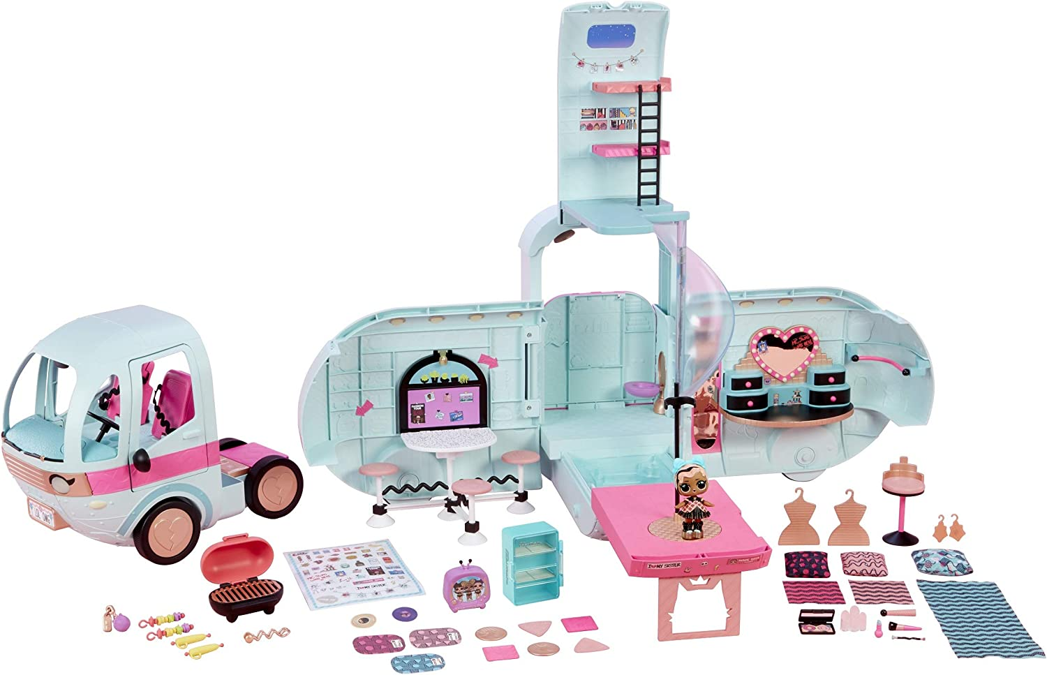 L.O.L 2-in-1 Glamper Fashion Camper with 55 Surprise Surprises