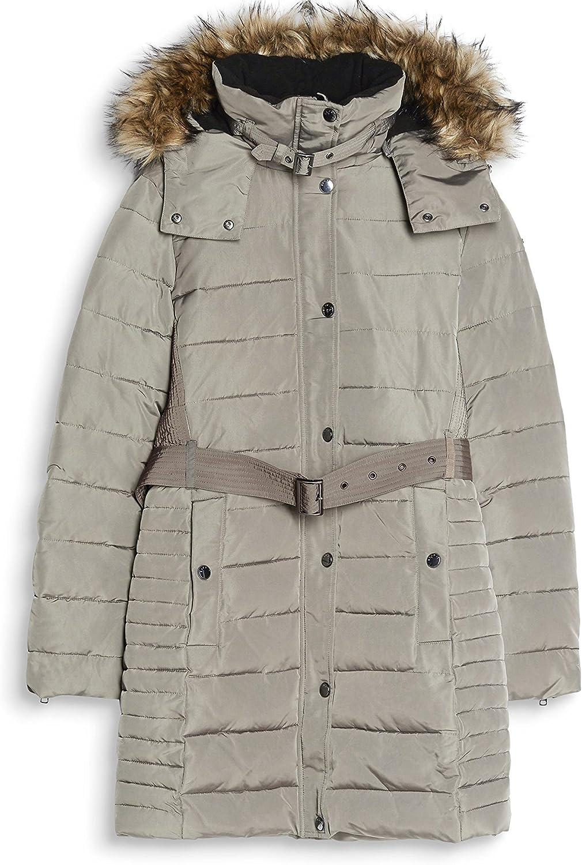 ESPRIT Women's Coat Grey (Brown Grey 025)