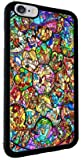 Disney All Characters Stained Glass iPhone 8 PLUS Protective TPU Rubber iPhone Case