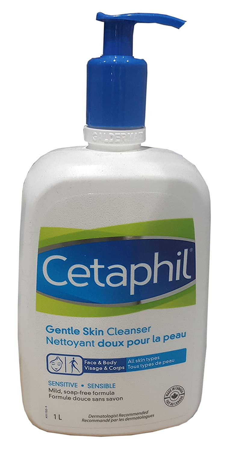 Cetaphil Gentle Skin Cleanser, Face & Body for All Skin Types - 33.80 Fl. Oz / 1 Litres