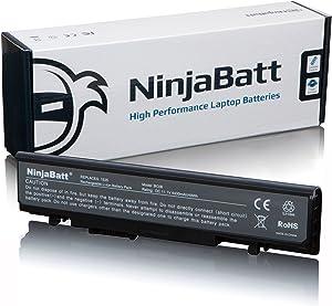 NinjaBatt Laptop Battery PP39L for Dell Studio 1535 1536 1537 1555 1557 1558 WU946 PP33L 312-0701 312-0702 KM887 KM901 KM904 KM905 MT264 MT275 MT276 RM803 RM804 RM855 WU960 - [6 Cells/4400mAh/11.1V]