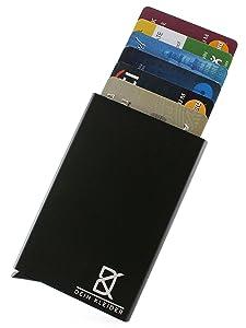 Dein Kleider Minimalist Design Anti-Theft RFID Metal Card Wallet (Black)