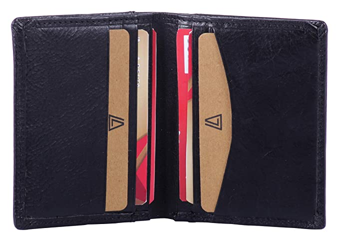 2300fb58df9f Leather Architect -Men's Real Italian Leather Bifold Card Holder and RFID  blocking