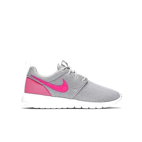 15d4a685b2cf Nike Youth Roshe One (Wolf Grey Hyper Pink White)(4.5 M