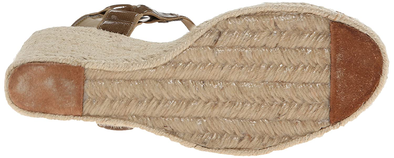 Lauren Ralph Lauren Women's Indigo Wedge Sandal B00S08WZIO 8.5 B(M) US|Coastal Sand Patent Elastic