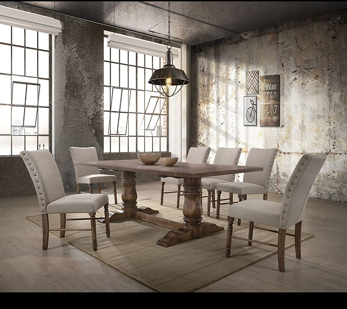 ACME FurnitureLeventis Dining Table, Weathered Oak