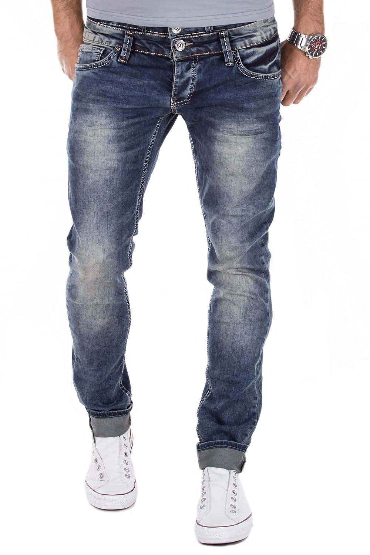 Merish Men's Denim Chino Trend Double Waistband Jeans Pants Latest