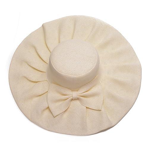 8af91a476 Lawliet Linen Summer Womens Kentucky Derby Wide Brim Sun Hat Wedding Church  Sea Beach A047
