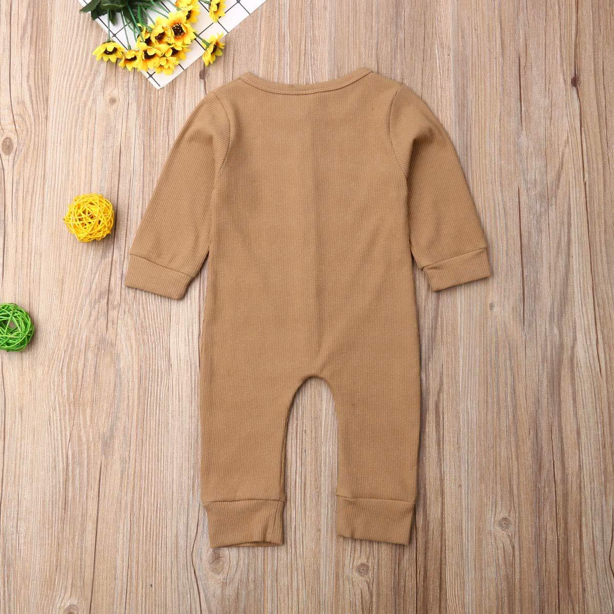 Newborn Kids Baby Bodysuit Set Girl Boy Cute Long Sleeve Buttons Romper Jumpsuit Playsuit Cotton Outfit Clothes 0-24 Months