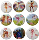 Mia and Me Buttons Badges 9 Pcs Set #1