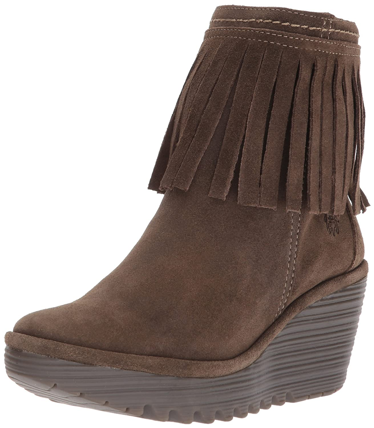 FLY London Women's Yagi766fly Ankle Boot B06WWMTYNF 36 M EU (5.5-6 US)|Sludge Oil Suede