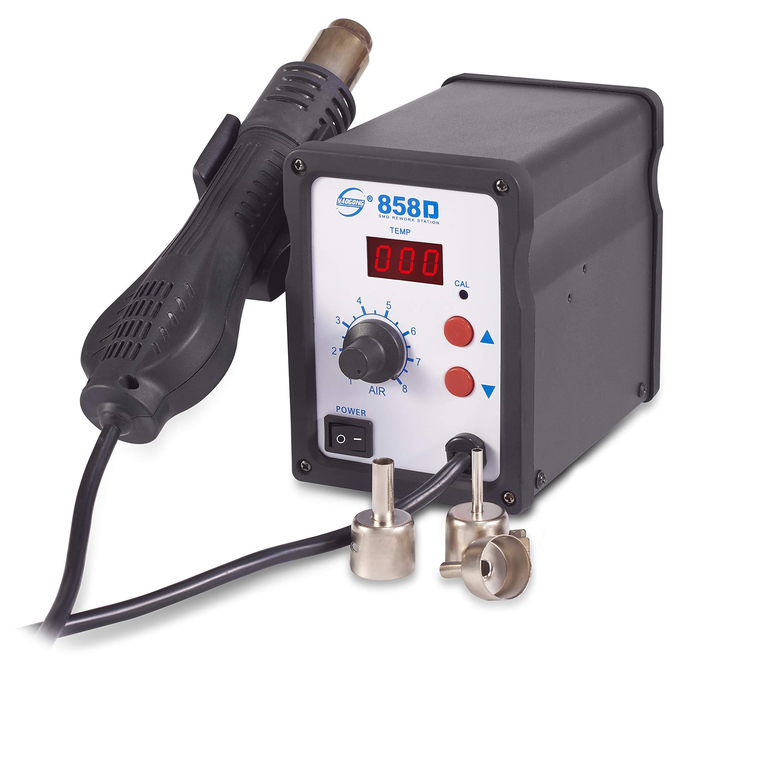 858D SMD Digital Soldering  Hot Air Gun  Iron Desoldering Rework Station 700W !