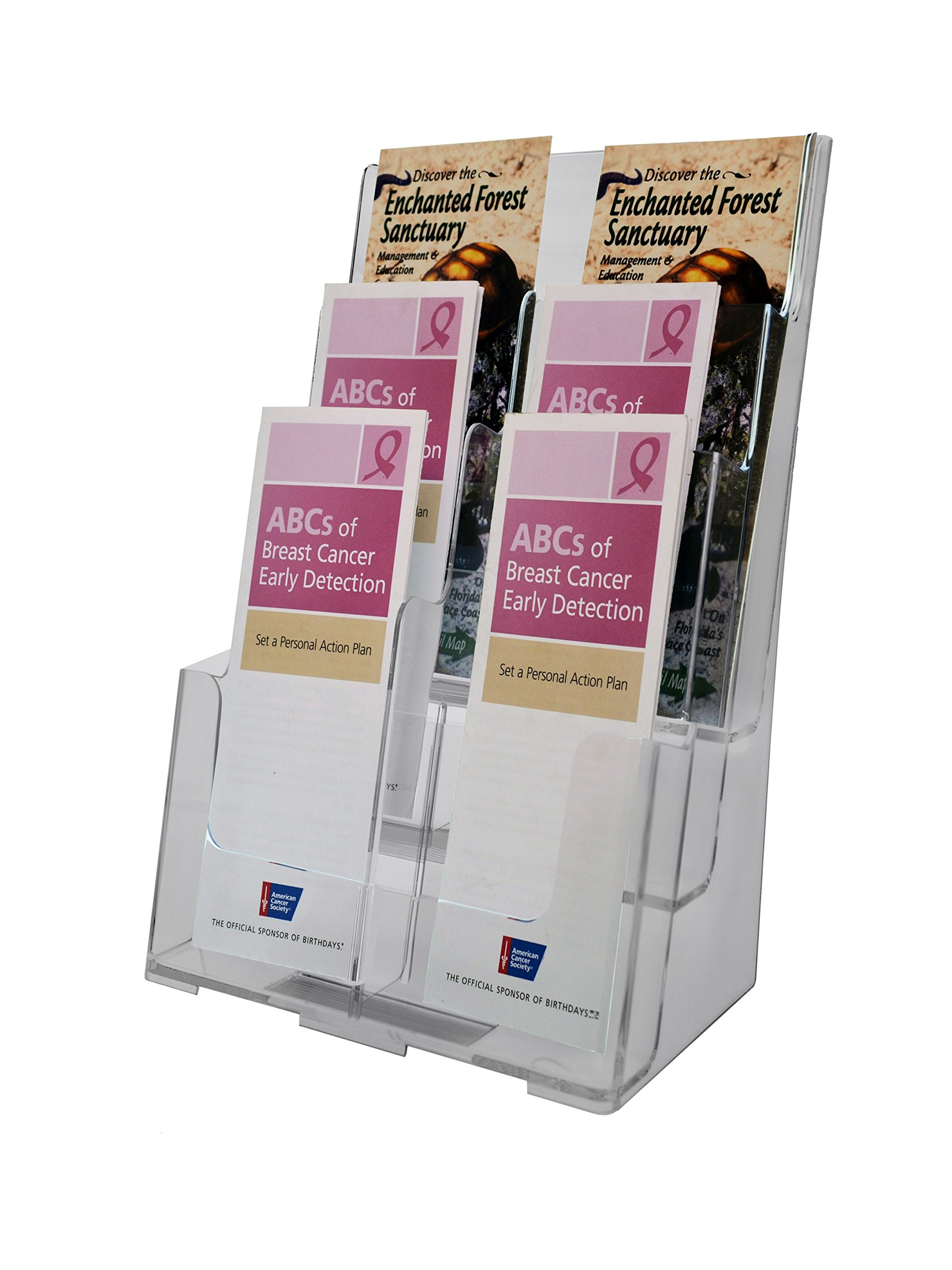 Marketing Holders Three Tiered Acrylic Literature Holder Clear