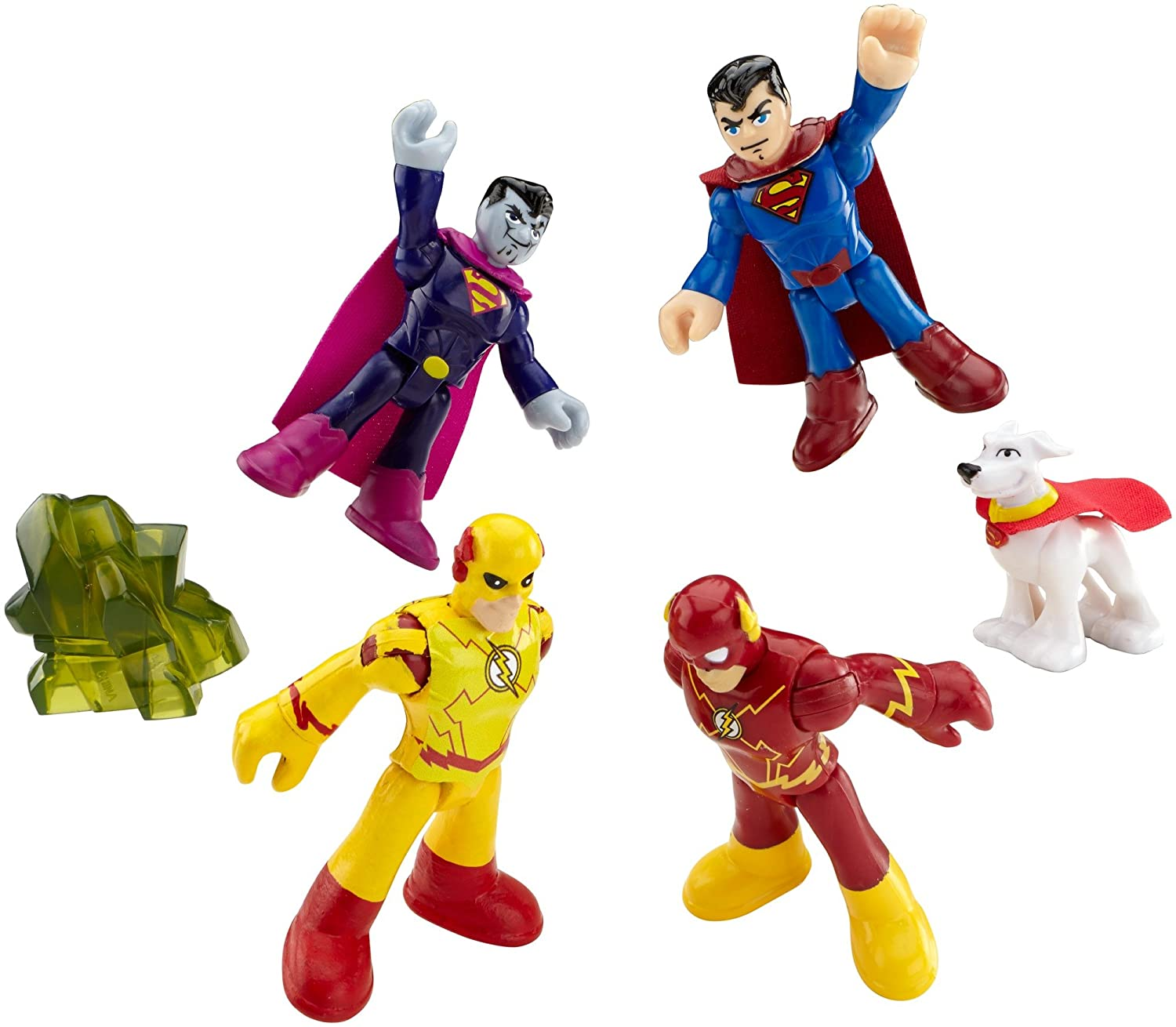 Imaginext Heroes and Villains Figures with Superman, Bizarro, The Flash and Professor Zoom, Gift for Kids from 3 Years Old Mattel CMX23