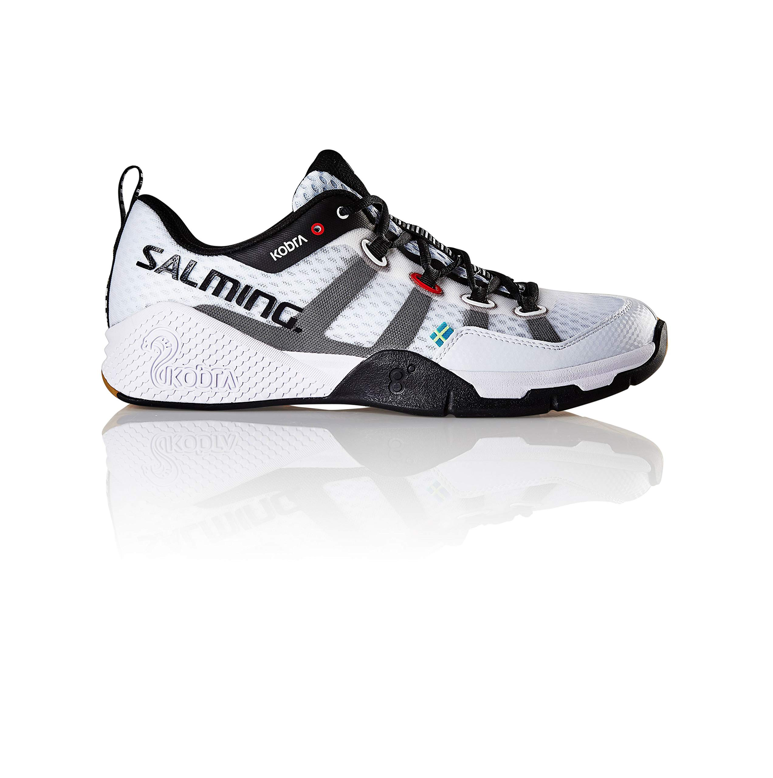 Salming Men's Kobra 2 Squash Indoor Court Sports Shoes, White, 10