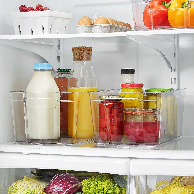 AmazonBasics - Recipiente de plástico para frigorífico, mediano ...