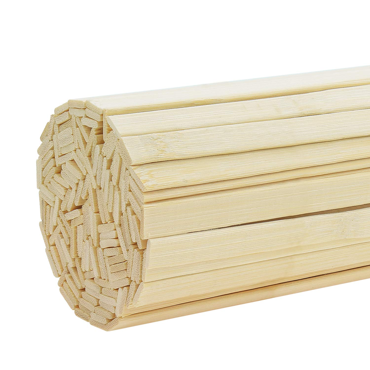 Powlankou 40 Pieces 11.81 Inches Natural Bamboo Sticks, Bamboo Strips, Strong Natural Bamboo Sticks for Craft Projects