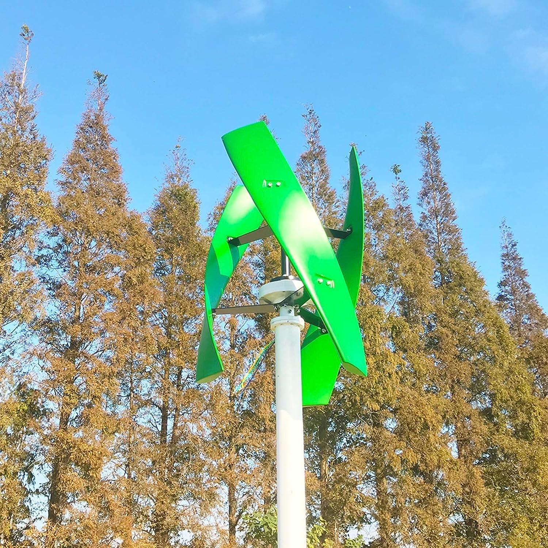 DSDD Turbina de Viento de maglev Permanente, generador de turbina de Viento de maglev Permanente de Eje Vertical de 400 W, 12 V, 24 V, 48 V con Controlador MPPT, B, 24 V