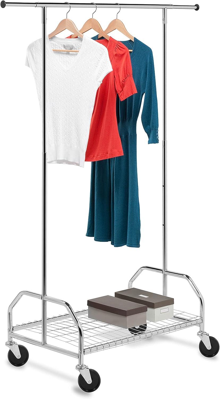 Honey-Can-Do Bottom Shelf Expandable Chrome Garment Rack