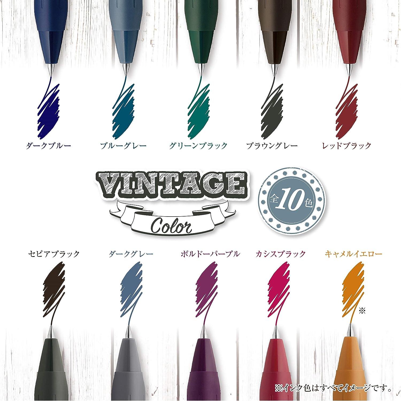 JJ15-5C-VI2 gummierter Griff Zebra Sarasa Druckkugelschreiber mit Klemme 0,5 mm 5 Farben Vintage-Farben