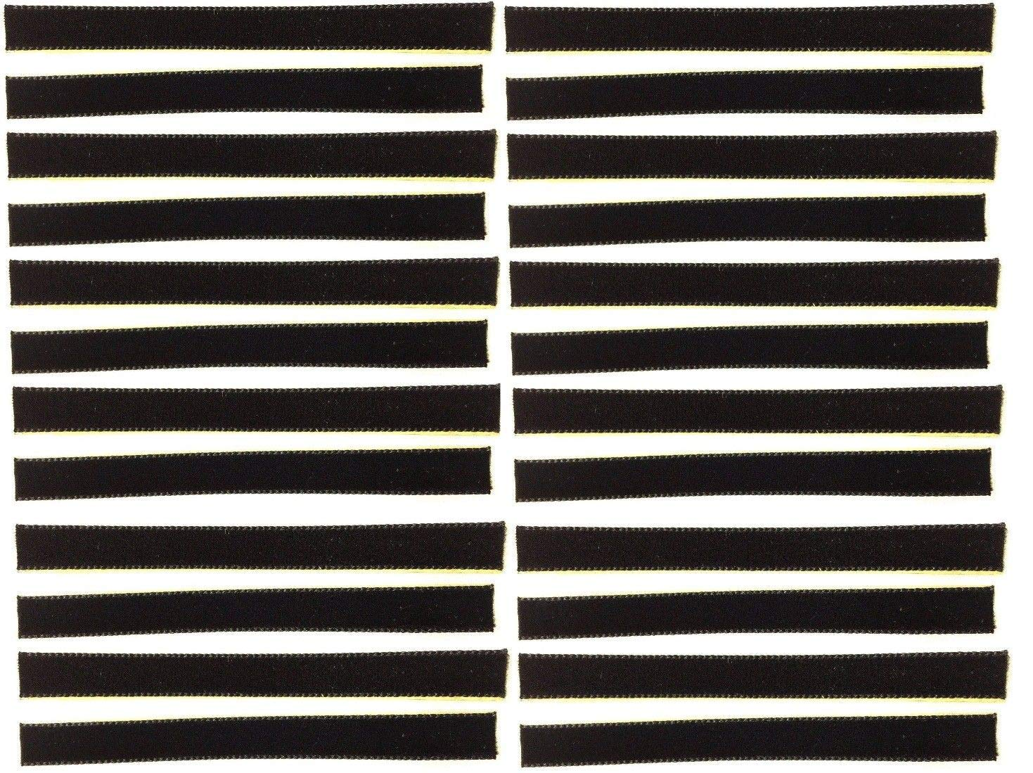 24-Pack of Black Over-Sized VPI Machine/Nitty Gritty/Okki Nokki Replacement LP Vinyl Record Album Cleaning/Cleaner Strips Oversized 3/8'' x 4'' Velvet/Felt/3M Adhesive by Capitol Collectibles