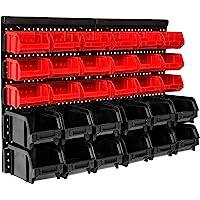 TecTake Etagère des 31 eléments bac à bec boites de rangement combinaison