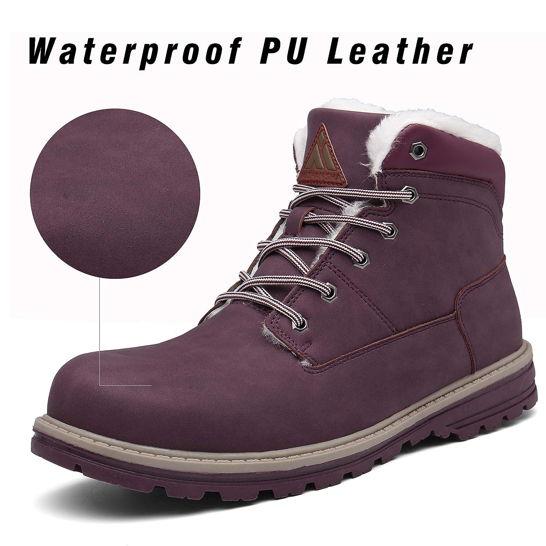 Mishansha Inverno Caldi Stivali Uomo Donna Pelliccia Neve Scarpe Antiscivolo Boots Adulto Impermeabile Calzature Esterni