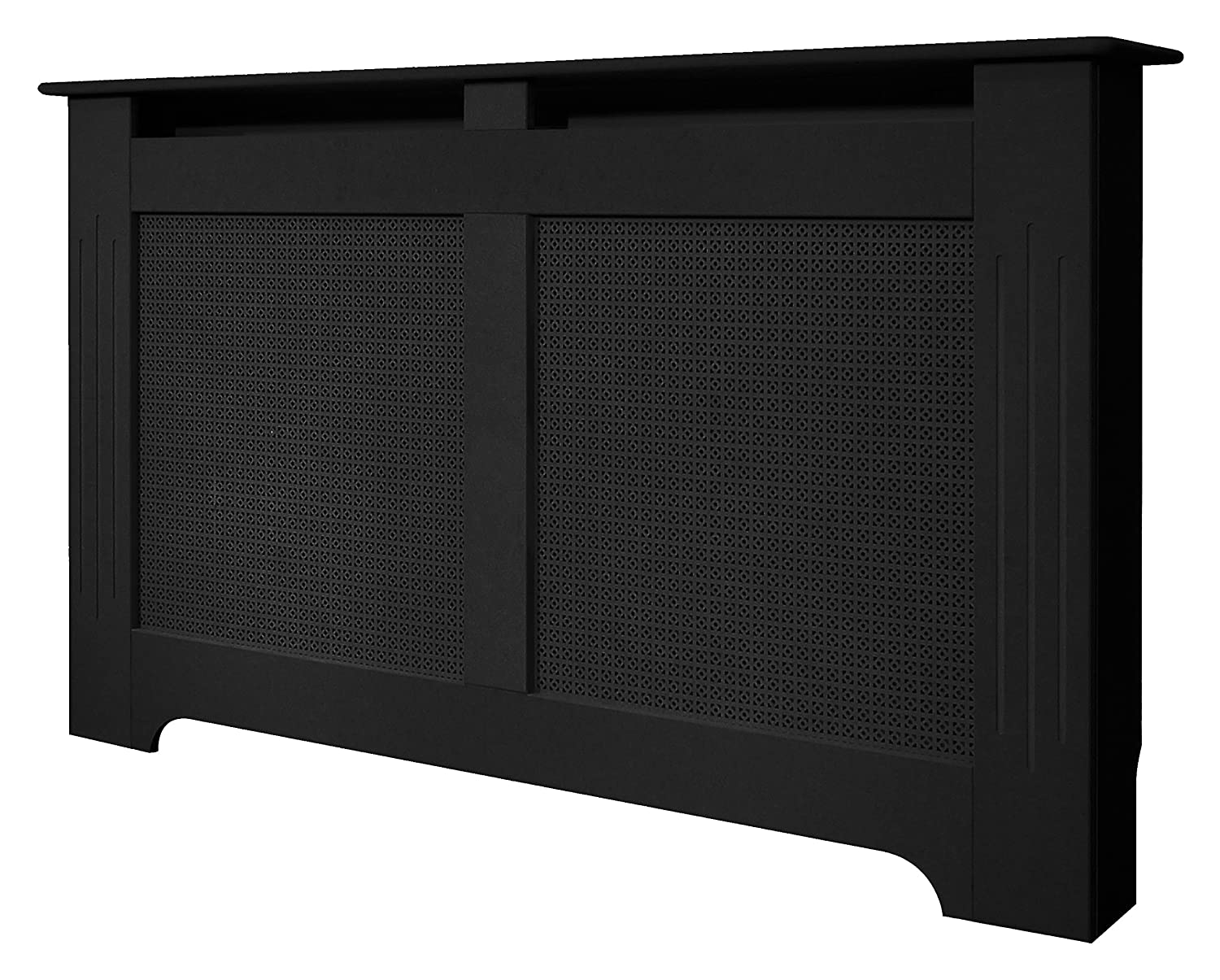 Adam Large Radiator Cover, 160 cm, Black Fired Up Corporation Ltd
