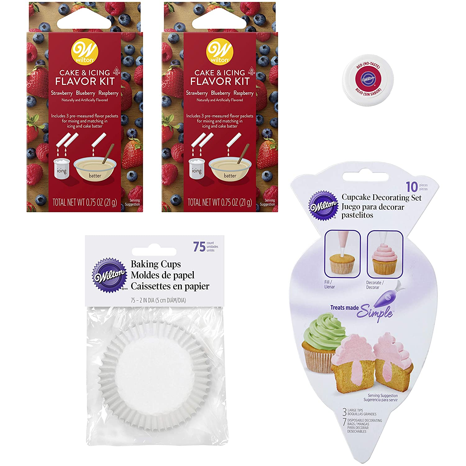 Amazon.com: Berry-Flavored Cupcake Baking and Decorating Set, 4-Piece: Kitchen & Dining